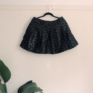 H&M Faux Leather Stitched Skirt